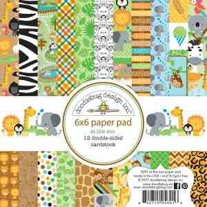 Doodlebug Design 6x6 Paper Pad At the Zoo