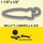 Waffle Flower Crafts Dies Willy's Umbrella