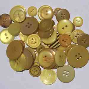 Mixed Resin Buttons Yellow