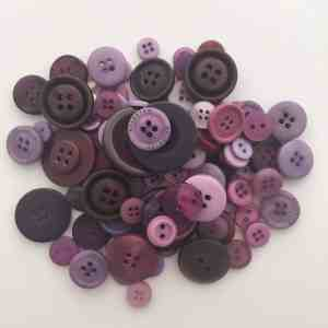 Mixed Resin Buttons Purple