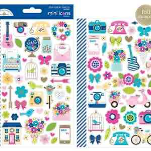 Doodlebug Design Mini Icon Stickers Hello