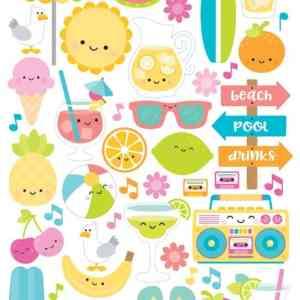 Doodlebug Design 6x12 Icon Stickers Sweet Summer