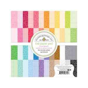 Doodlebug Design 6x6 Floral Graph Rainbow Petite Prints