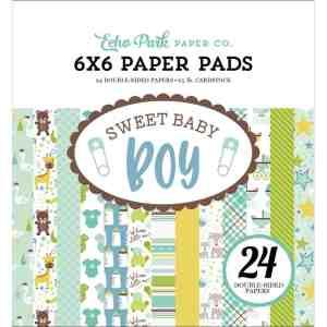 Echo Park 6 Inch Paper Pad Sweet Baby Boy