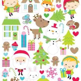 Doodlebug Design 6x12 Icon Stickers Christmas Town