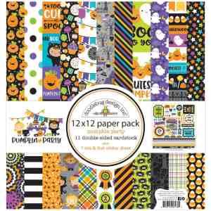 Doodlebug Design 12x12 Paper Pack Pumpkin Party