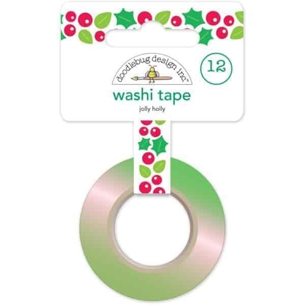 Doodlebug Design Washi Tape Jolly Holly