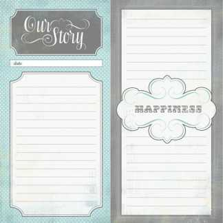 Carta Bella 12x12 Happy little Moments Our Story