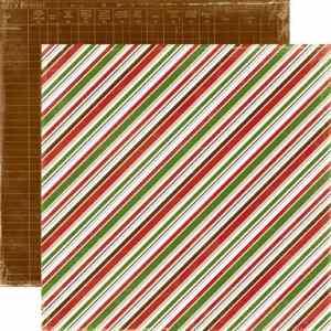 Echo Park 12x12 Very Merry Christmas Diagonal Stripe