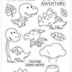 Doodlebug Design Doodle Stamps Dino Mite