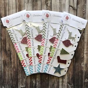 Handmade Christmas Gift Tags Glitter