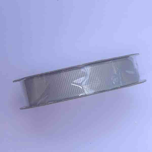 Kaisercraft Ribbon Grosgrain Silver 13mm