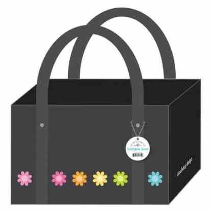 Doodlebug Design Foldable Tote Bag Daisies