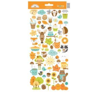 Doodlebug Icon Stickers Pumpkin Spice