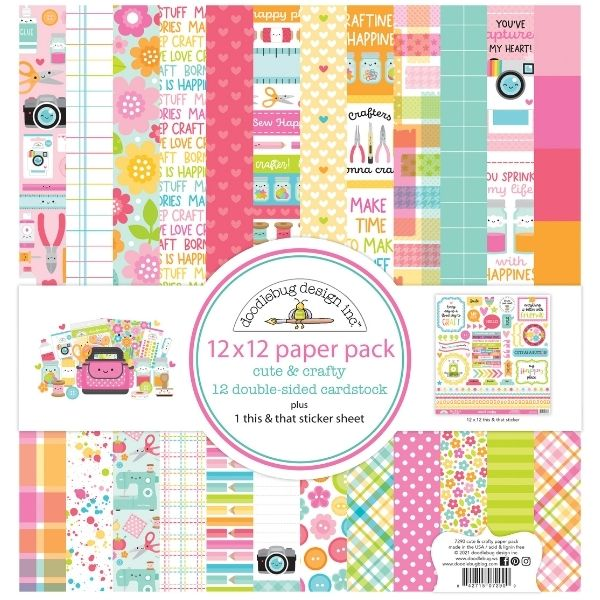 Doodlebug 12x12 Paper Pack Cute and Crafty