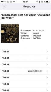 Navigation innerhalb des Audiobooks im Player der Anleihe-App