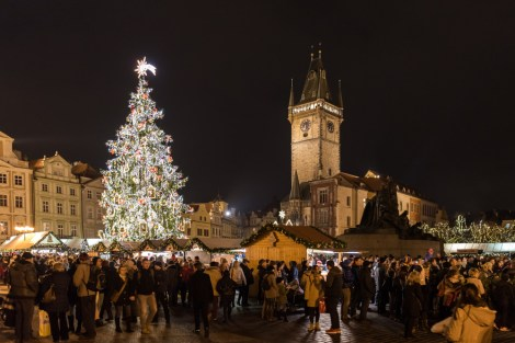 05 Prag, Tschechien, Czech Republic, sightseeing, night, city, christmas market