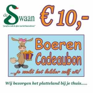 BoerenCadeaubon 10 – Kerstpakket Cadeaubon zelf je kado uitzoeken
