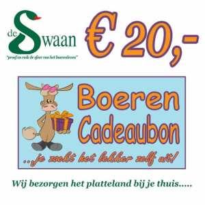 BoerenCadeaubon 20 – Kerstpakket Cadeaubon zelf je kado uitzoeken