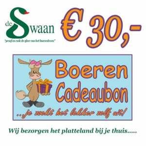 Boeren Cadeaubonnen 30 - Een Cadeaubon is het ideale kerstpakket voor elke medewerker - Bestel bij BoerenCadeaubon- www.KerstpakkettenCadeaubon.nl