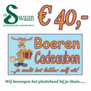 BoerenCadeaubon 40 – Kerstpakket Cadeaubon zelf je kado uitzoeken
