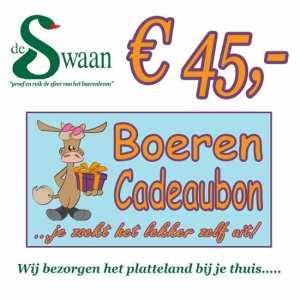 BoerenCadeaubon 45 – Kerstpakket Cadeaubon zelf je kado uitzoeken