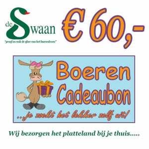 Boeren Cadeaubonnen 60 - Een Cadeaubon is het ideale kerstpakket voor elke medewerker - Bestel bij BoerenCadeaubon- www.KerstpakkettenCadeaubon.nl