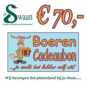 BoerenCadeaubon 70 – Kerstpakket Cadeaubon zelf je kado uitzoeken