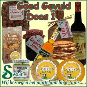 Kerstpakket thema Goed gevuld luxe doos 1 - Luxe streek Kerstpakket bestellen - www.KerstpakkettenCadeaubon.nl