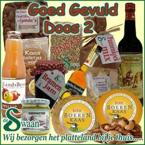 Kerstpakket thema Goed gevuld luxe doos 2 - Luxe streek Kerstpakket bestellen - www.KerstpakkettenCadeaubon.nl