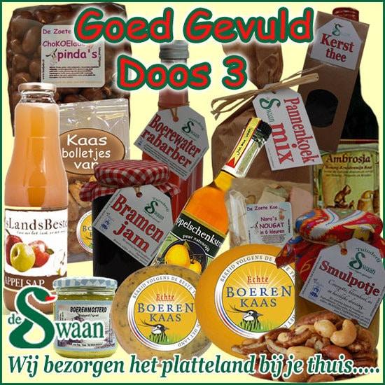 Kerstpakket thema Goed gevuld luxe doos 3 - Luxe streek Kerstpakket bestellen - www.KerstpakkettenCadeaubon.nl
