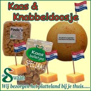Kaas en knabbel kerstpakket - streek kerstpakket gevuld met streekproducten van kaas - www.kerstpakkettencadeaubon.nl