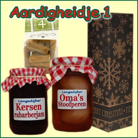 Kerstpakket Aardigheidje 1 - Streekpakket gevuld met lokale streekproducten - Relatiegeschenk Specialist - www.kerstpakkettencadeaubon.nl