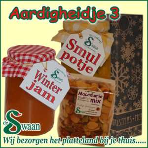 Relatiegeschenk Aardigheidje 3 - streek kerstpakket gevuld met huisgemaakte streekproducten - www.kerstpakkettencadeaubon.nl