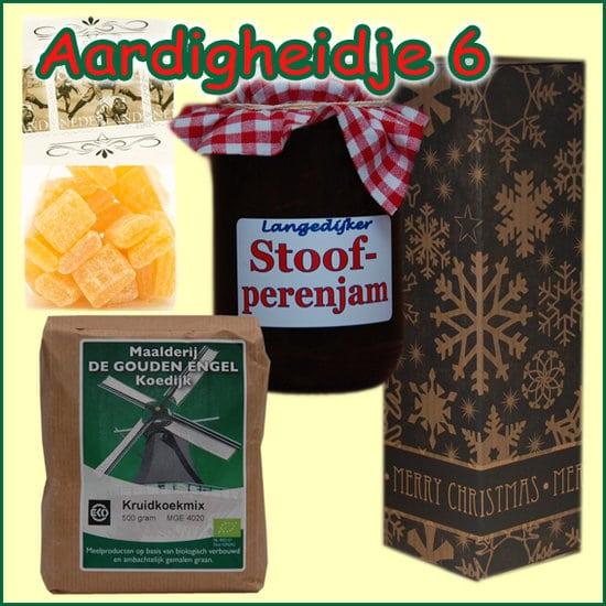 Kerstpakket Aardigheidje 6 - Streekpakket gevuld met lokale streekproducten - Relatiegeschenk Specialist - www.kerstpakkettencadeaubon.nl
