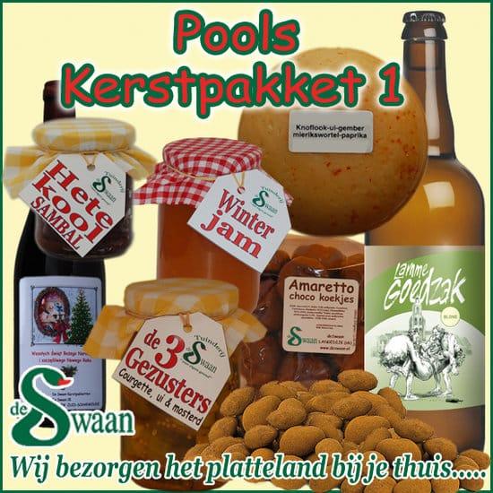 Kerstpakket Pools 1- Streek kerstpakket gevuld met puur Noord-Hollandse streekproducten - www.kerstpakkettencadeaubon.nl