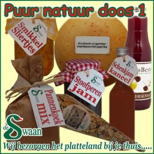 Kerstpakket Puur Natuur 1- Streek kerstpakket gevuld met puur Noord-Hollandse streekproducten - www.kerstpakkettencadeaubon.nl