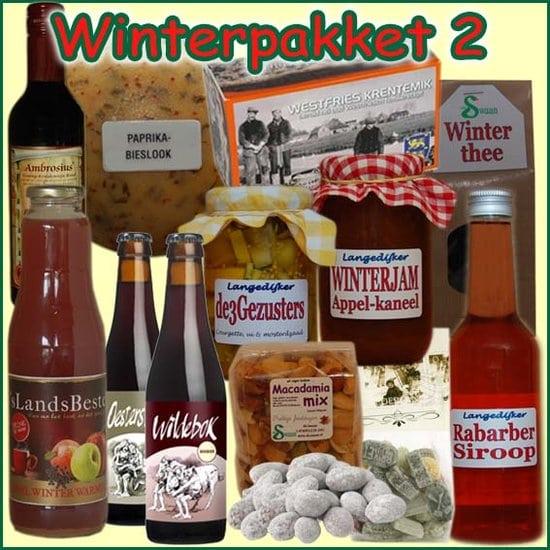 Kerstpakket Winter 2 - Streekpakket gevuld met unieke winterse streekproducten - Kerstpakket Specialist - www.kerstpakkettencadeaubon.nl