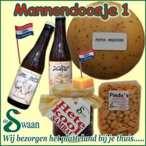 Kerstpakket mannen - streek kerstpakket gevuld met streekproducten voor de man - www.kerstpakkettencadeaubon.nl