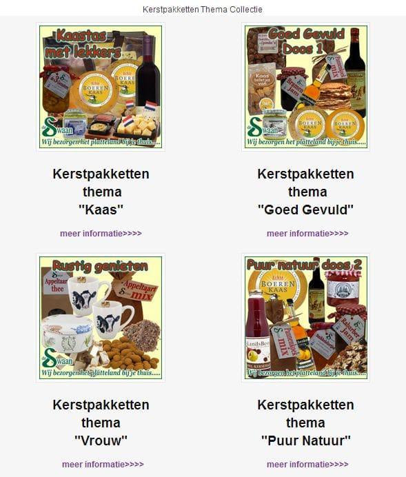 Kerstpakketten Thema Collectie
