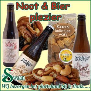Noten en bier kerstpakket - streek kerstpakket gevuld met streekproducten van bier en noten - www.kerstpakkettencadeaubon.nl