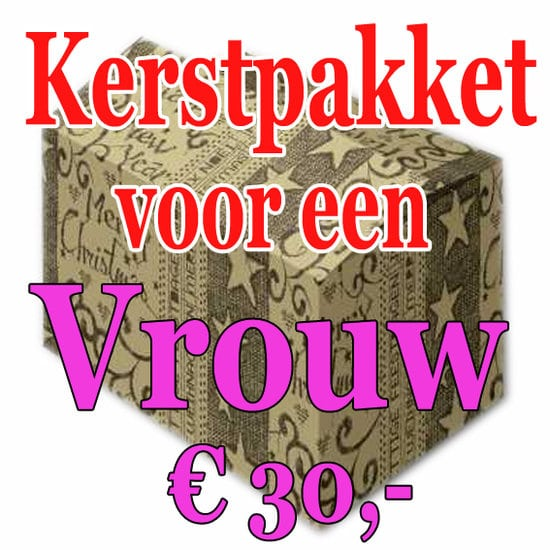 Verrassingspakket voor de Vrouw 30 - Mystery pakket - verras je vrouw - www.kerstpakkettencadeaubon.nl