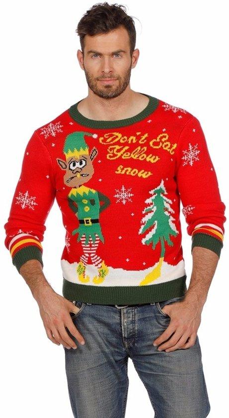 Foute Kersttrui Maat 80.Heren Kersttrui Do Not Eat Yellow Snow Kersttruienkopen Nl