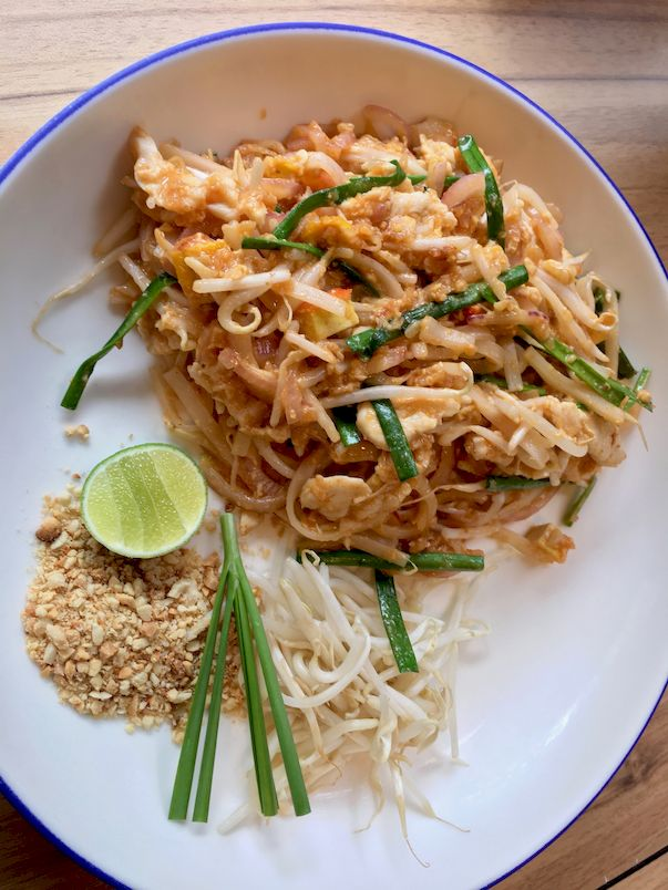Thailand Bangkok Street Food - Pad Thai (Thai style Fried Noodles)