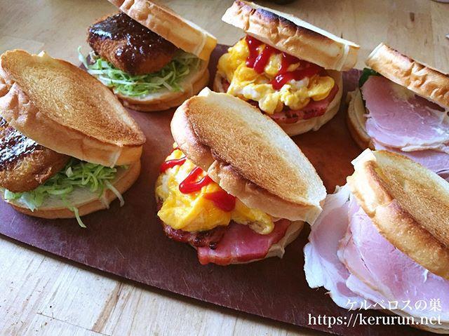 弁当LOG 20180407 トーホーベーカリーのラウンドパンで作るサンドイッチ弁当