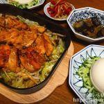 夕飯LOG グリルパンで作る鶏モモ肉の甘辛蒸し焼きの献立