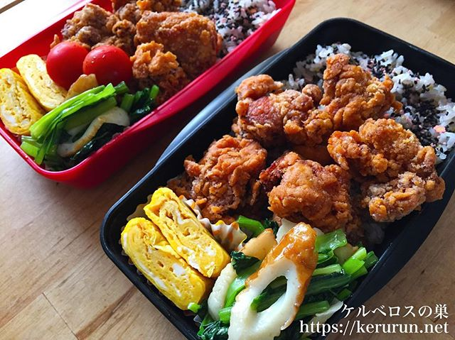 #弁当LOG 鶏の唐揚げ弁当