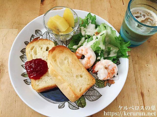 トーストすると美味しい食パンでワンプレート朝ごはん