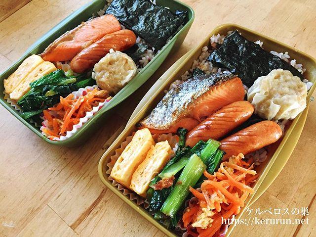 のり鮭弁当