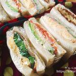 菜の花サンドイッチのお弁当